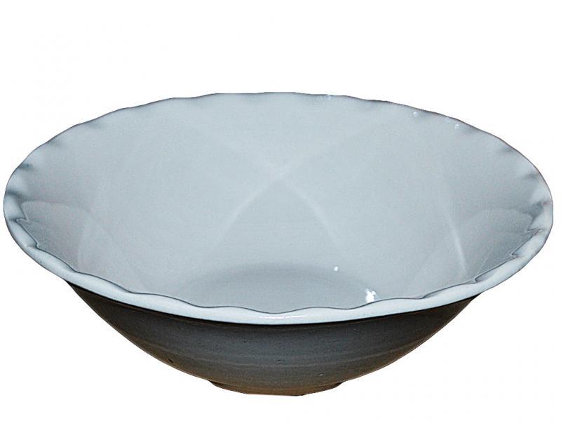 Тарелка керамическая глубокая Снежка 600мл