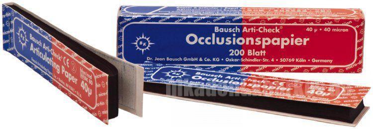 Фото Для зуботехнических лабораторий, АКСЕССУАРЫ, Артикуляционная бумага и окклюзионные спреи ВК80 Артикуляционная бумага синяя/красная 40мкм