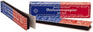 ВК80 Артикуляционная бумага синяя/красная 40мкм