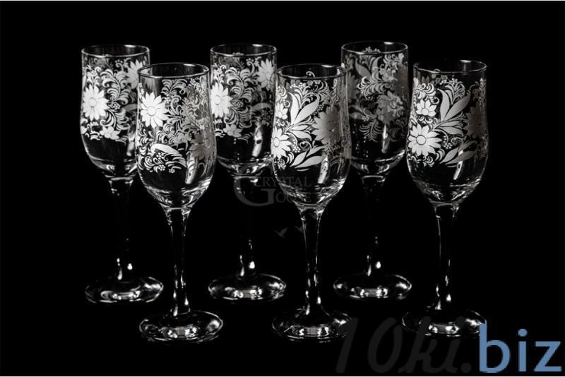 """Бокалы для вина """"Тулип"""". Белые цветы Наборы для бара в России"""