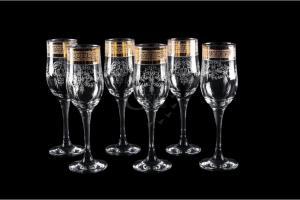 Фото Бокалы и фужеры, Декорированные, Гравировка, напыление Бокалы для вина