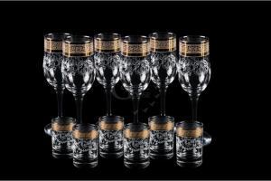 Фото Наборы из 12-13 изделий, Декорированные Набор из 12 предметов. Бокал и стопка. Барокко