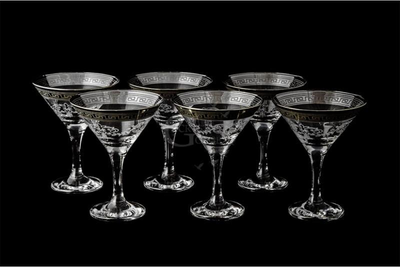 """Набор бокалов для мартини """"Бистро"""". Барокко"""