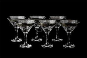 Фото Бокалы и фужеры, Декорированные, Гравировка, напыление Набор бокалов для мартини