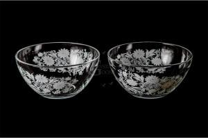 Фото Салатники Набор из двух средних салатников. Белые цветы