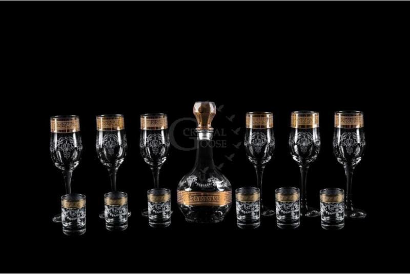 Набор из 13 предметов: графин, бокал, стопка. Барокко