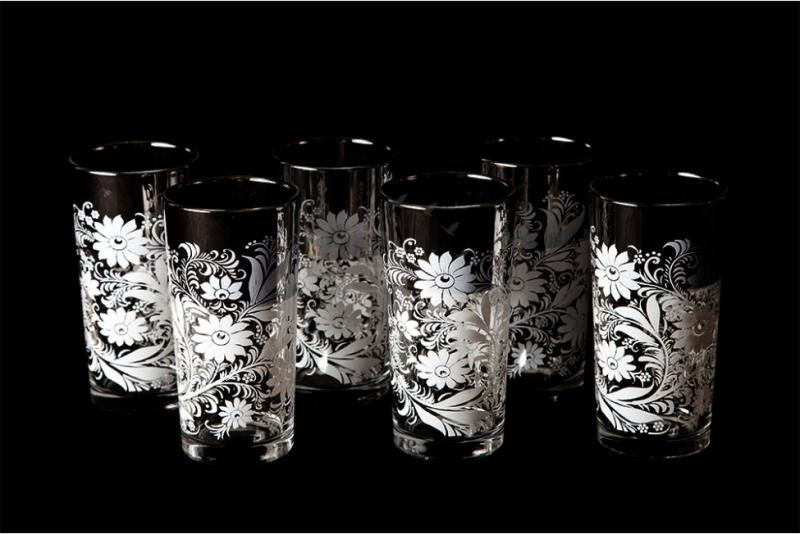 "Набор стаканов ""Ода"". Белые цветы"