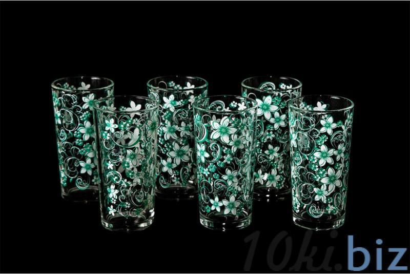 """Набор стаканов """"Ода"""". Зеленый вьюнок купить в Гусь-Хрустальном - Стаканы с ценами и фото"""