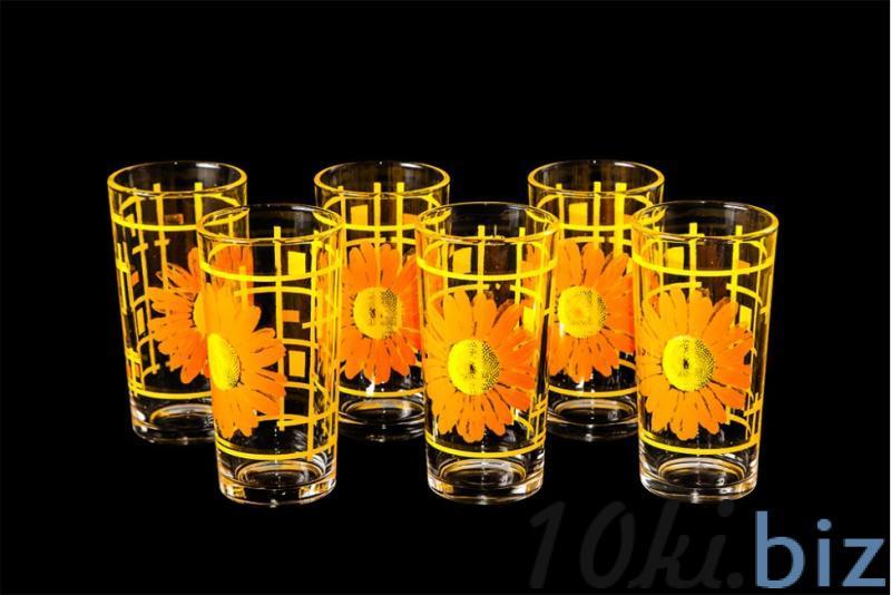 """Набор стаканов """"Ода"""". Оранжевые герберы Стаканы купить на рынке в Гусь-Хрустальном"""