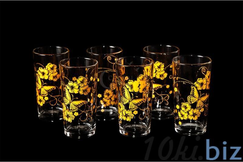 """Набор стаканов """"Ода"""". Оранжевые бабочки купить в Гусь-Хрустальном - Стаканы с ценами и фото"""