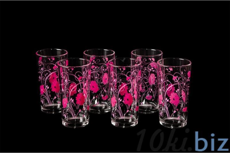 """Набор стаканов """"Ода"""". Розовые васильки"""