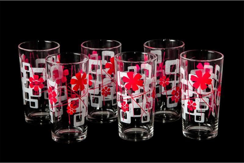 "Набор стаканов ""Ода"". Розовая абстракция"