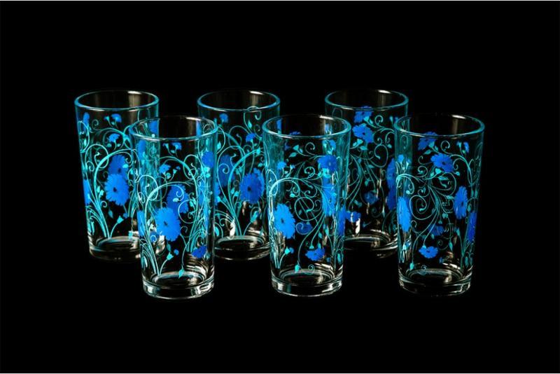 "Набор стаканов ""Ода"". Синие васильки"