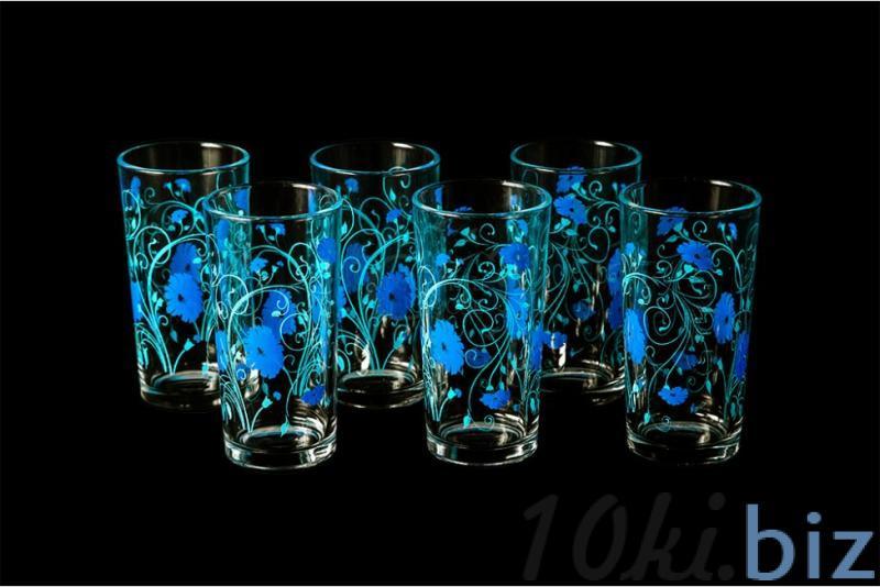 """Набор стаканов """"Ода"""". Синие васильки купить в Гусь-Хрустальном - Стаканы с ценами и фото"""