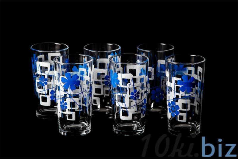 """Набор стаканов """"Ода"""". Синяя абстракция купить в Гусь-Хрустальном - Стаканы с ценами и фото"""