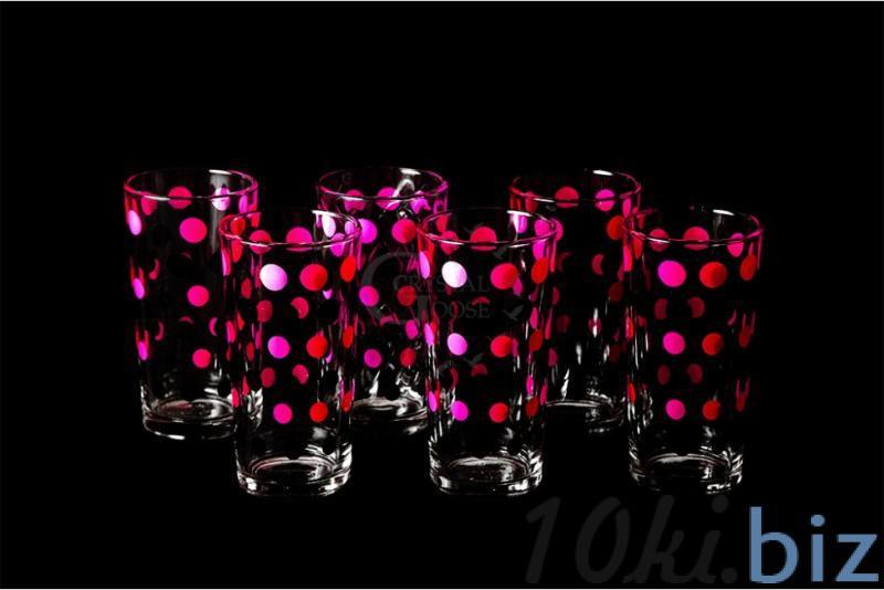 """Набор стаканов """"Ода"""". Красный горох купить в Гусь-Хрустальном - Стаканы с ценами и фото"""