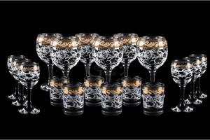 Фото Барные стойки Барная стойка из 18 предметов: Фужер, рюмка, стопка. Вдохновение