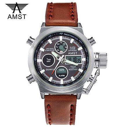 Часы Amst 3003 Wrangler, коричневый ремешок