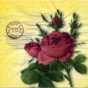Фото Салфетки для декупажа, Цветы Салфетка Розы и штампы СД-083