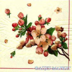 Фото Салфетки для декупажа, Цветы Салфетка Цвет яблони СД-115