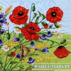 Фото Салфетки для декупажа, Цветы Салфетка Полевые цветы 2 СД-117