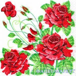 Фото Салфетки для декупажа, Цветы Салфетка Розы 5 СД-121