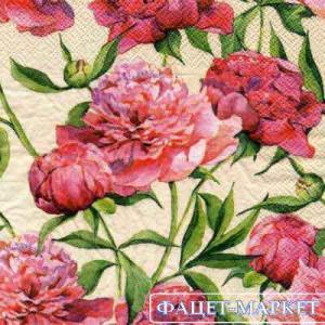 Фото Салфетки для декупажа, Цветы Салфетка Пионы 2 СД-126