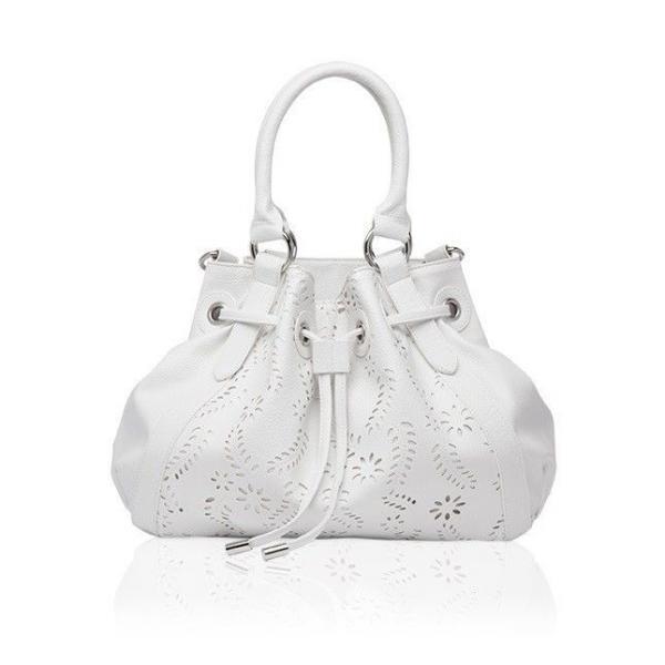 Ажурная белая сумка