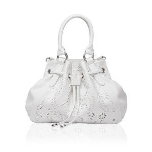 Фото  Ажурная белая сумка