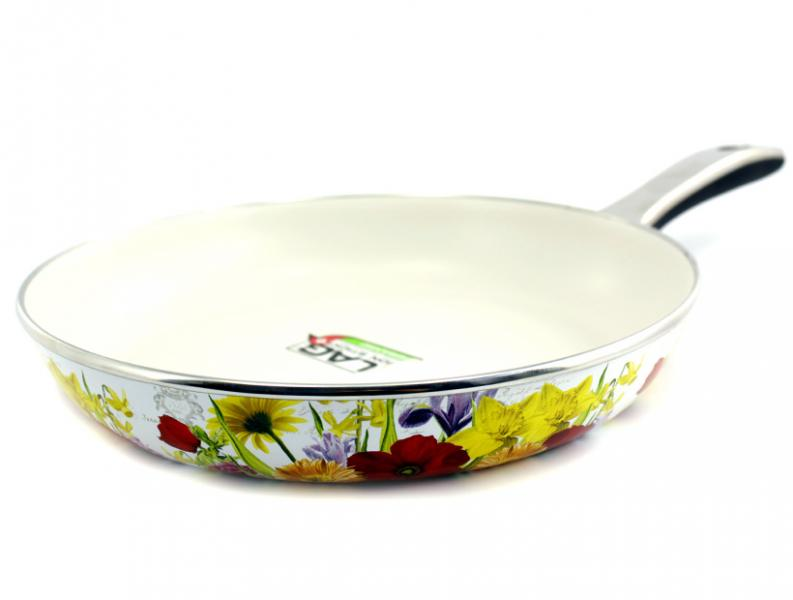 Сковорода Интерос с керамическим покрытием Лето 24 см