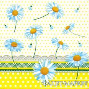 Фото Салфетки для декупажа, Цветы Салфетка Ромашки СД-127