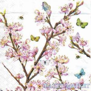 Фото Салфетки для декупажа, Цветы Салфетка Цвет сакуры СД - 144