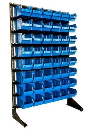 Стеллаж с пластиковыми ящиками