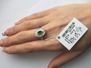 Фото Серебро со вставками золота, Кольца кольцо 0805