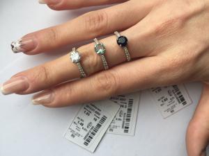 Фото Серебро со вставками золота, Кольца кольцо 0813