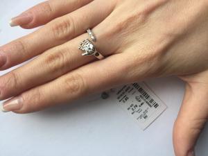 Фото Серебро со вставками золота, Кольца кольцо 0818