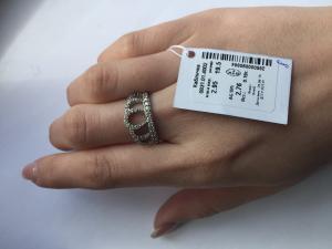 Фото Серебро со вставками золота, Кольца кольцо Корона 0831