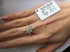 Фото Серебро со вставками золота, Кольца кольцо 0837