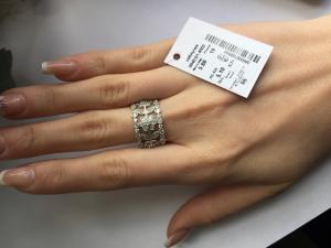 Фото Серебро со вставками золота, Кольца кольцо 0840