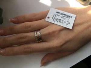 Фото Серебро со вставками золота, Кольца кольцо 0854