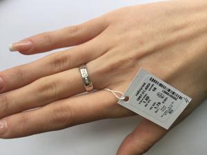 Фото Серебро со вставками золота, Кольца кольцо 0857