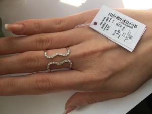 Фото Серебро со вставками золота, Кольца кольцо 0866