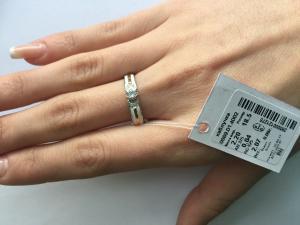Фото Серебро со вставками золота, Кольца кольцо 0868