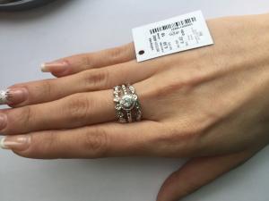 Фото Серебро со вставками золота, Кольца кольцо 0873