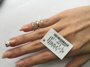 Фото Серебро со вставками золота, Кольца кольцо 0875