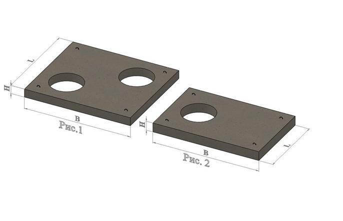 Плиты перекрытия каналов с отверстиями (ПО)
