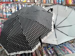 Фото  зонт женский  Горошек