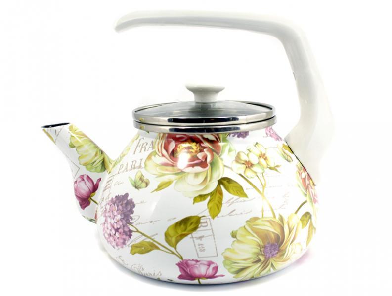 Чайник Интерос 2,2л Французская весна (бакелит. ручка)