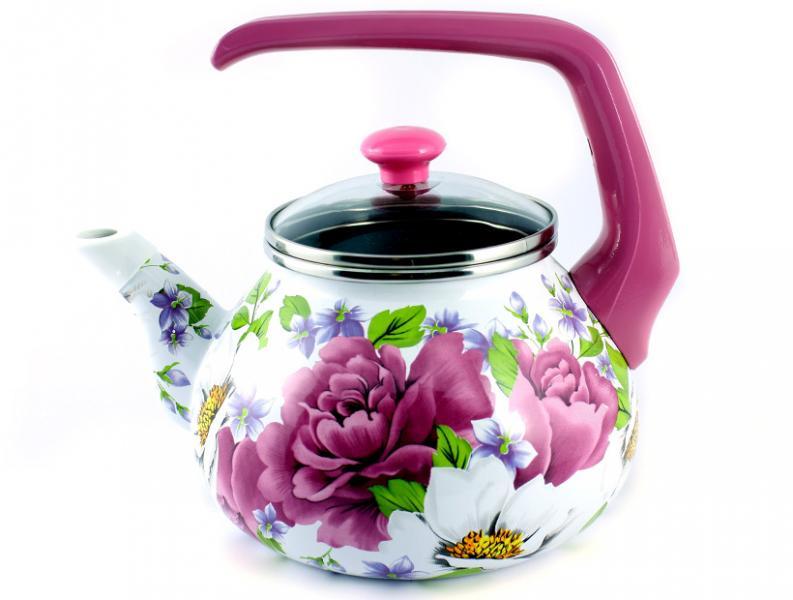 Чайник Интерос 2,2л Пион (бакелит. ручка)