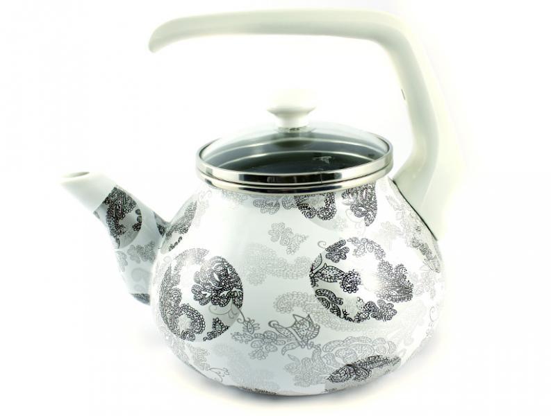 Фото Посуда со стеклоэмалевым покрытием, Чайники со стеклоэмалевым покрытием Чайник Интерос 2,2л Милана (бакелит. ручка)